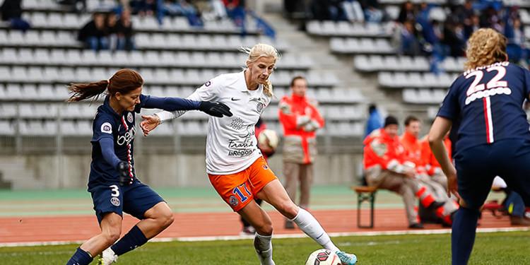 Sofia Jakobsson face à laure Boulleau la saison dernière à Charlety. .#lesfeminines.fr Crédit Giani Pablo.