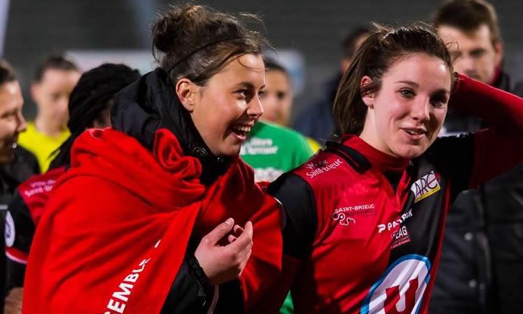 Guingamp Féminines fête «la Saint Patrick» des Celtes bretons (17 mars) en gagnant face à Juvisy (21 mars) sur deux coups de canon. (1-2)