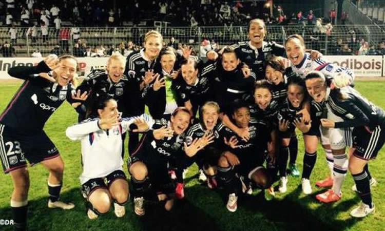 Lyon est unique. LYON fait un 9ème titre de rang dans le deuxième championnat européen.