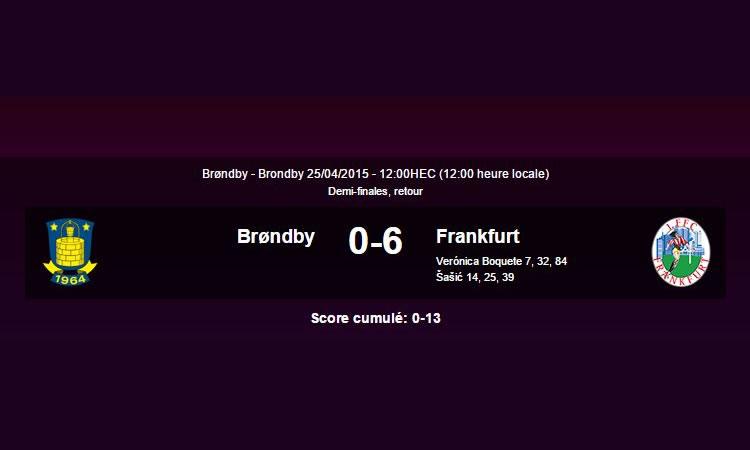 Franckfurt gagne son billet en finale en faisant un score cannibale