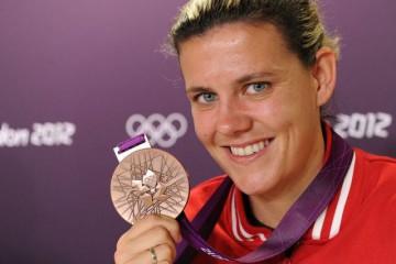 Christine Sinclair, la star canadienne qui attend de jouer la finale chez elle, à Vancouver.