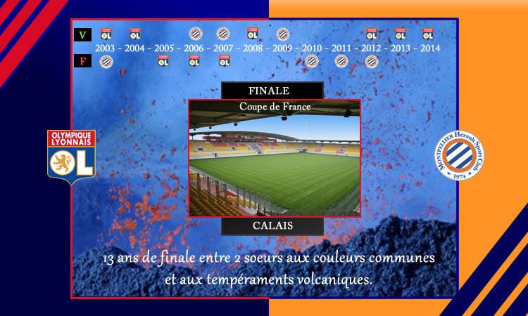 Finale de la Coupe de France : Montpellier – Ol. Lyonnais Deux équipes au même tempérament volcanique.