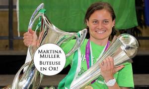 Martina Muller buteuse en Or. Wolfsburg. Lesfeminines.fr
