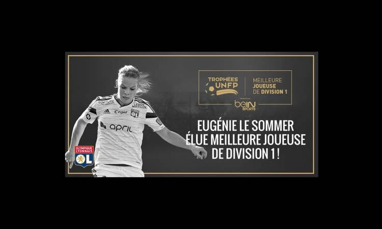 Eugénie Le Sommer (OL), sacrée meilleure joueuse de D1 pour la saison 2015
