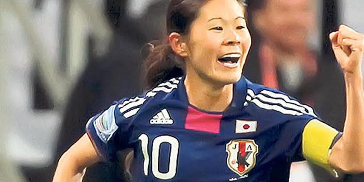 Homare Sawa marque le seul but du Japon face à une grosse équipe de Nouvelle-Zélande. Lesfeminines.fr