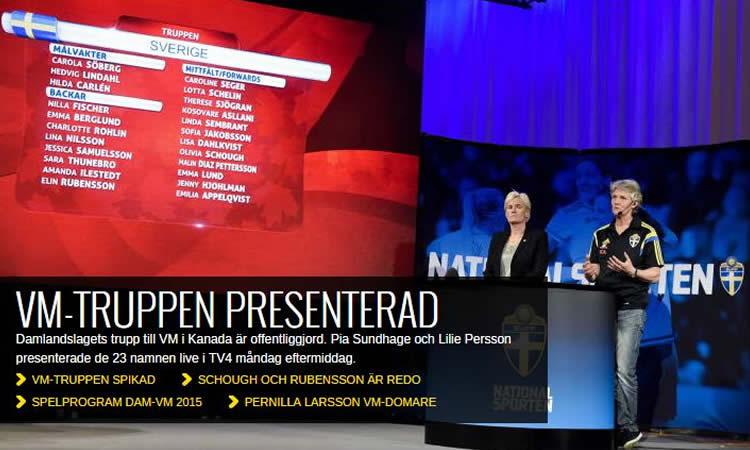 Coupe du Monde Canada 2015 – Une sélection suédoise très française et internationale.