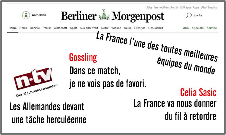 Le Match vu d'Allemagne : ACHTUNG : DAS IST FRANKREICH !