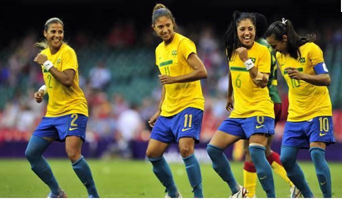 Brésil-Samba-au Havre pour l'EDF fémiine de football. Lesfeminines.fr