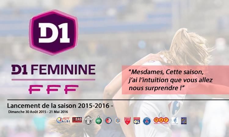 Le calendrier de la D1F 2015-2016. Les féminines.fr
