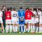 Fcf juvisy-essonne. Emmanuel Beauchet échange avec les joueuses juste après le match face à Guingamp EA. Crédit : Giovanni Pablo. Lesfeminines.fr
