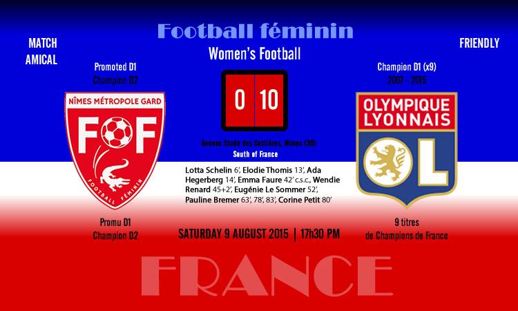 (0-10) Nîmes-OL féminin. Les lyonnaises ont pris la route des vacances sans être en vacances.