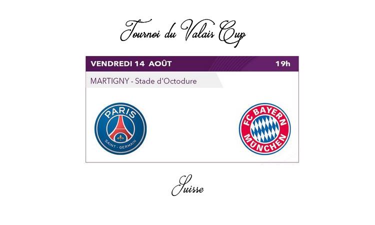 Eurosport2. Valais Cup. Bayern se qualifie face au PSG dans un match où les deux équipes ont joué un match de préparation.