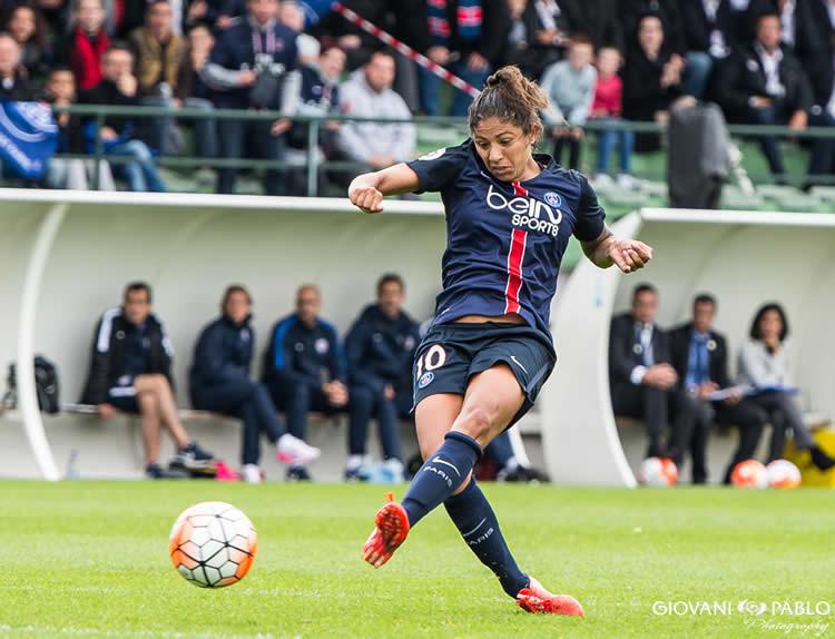 Cristiane. PSG Montpellier. Crédit Giovanni Pablo. Lesfeminines.fr