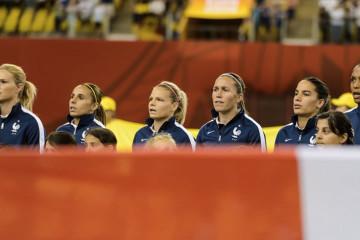 L'équipe de France lors du Mondial au Canada 2015. Lesfeminines.fr