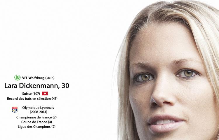 Lara Dickenmann. Vfl Wolfsburg. Crédit Gentside. lesfeminines.fr