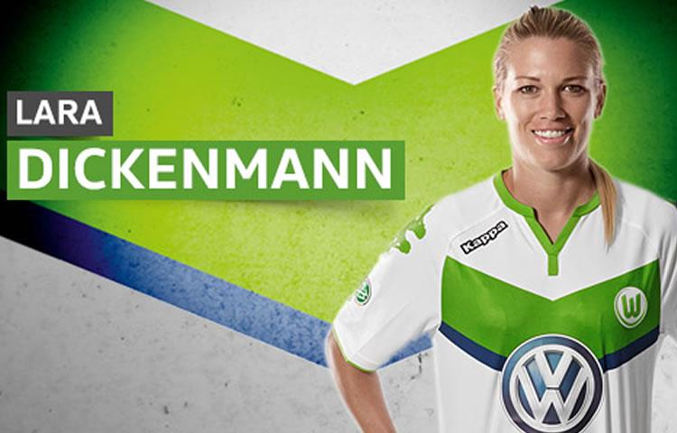 Lara Dickenmann. Crédit Vfl Wolfsburg. lesfeminines.fr