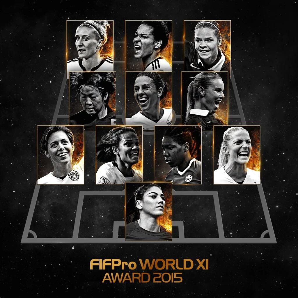 AWARDS – 3 françaises dans le XI 2015 du FIFpro