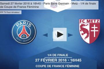 Football amateur. En direct sur la chaîne Dailymotion de la fff. Crédit fff.fr. Lesfeminines.fr