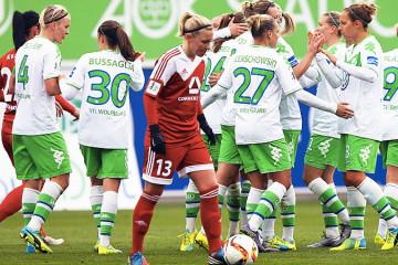 Wolfsburg s'impose deux fois cette semaine dans le cadre de l'Europe (3-1) face à Frankfurt. (3-0) face à Brescia. Crédit Vfl Wolfsburg. Les feminines.fr