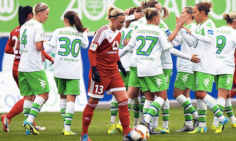 WCL – 1/4F – Wolfsburg (3-0) s'impose dans la lignée de son duel en championnat face à Frankfurt.