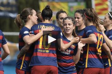 Barcelone - PSG -(0-0). Quart de finale aller WCL. Crédit Bercelona feminin. Les feminines.fr