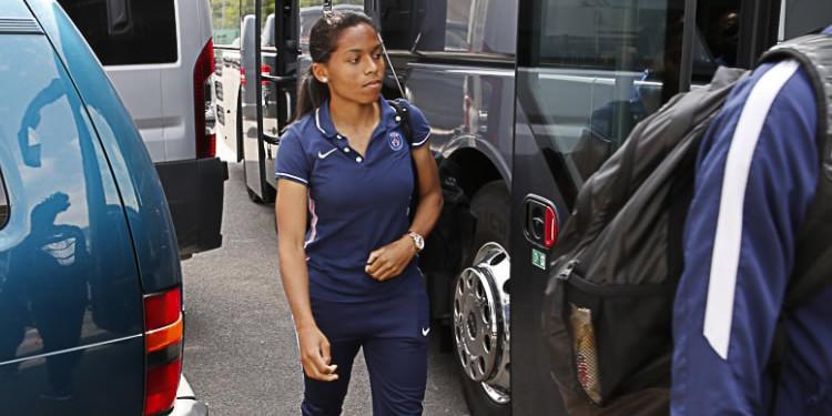Perle Morroni, jeune joueuse du Paris Saint Germain appelée en équipe de France. Crédit PSG.fr. Lesfeminines.fr