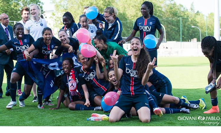 Finale U19F – Triplé du PSG. Le PSG gagne le titre et prend le flambeau du titre 2016
