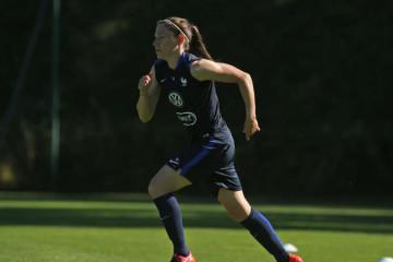 Elise Bussaglia, joueuse du Vfl Wolfsburg. Equipe de France. JO de Rio. Crédit fff.fr. Lesfeminines.fr