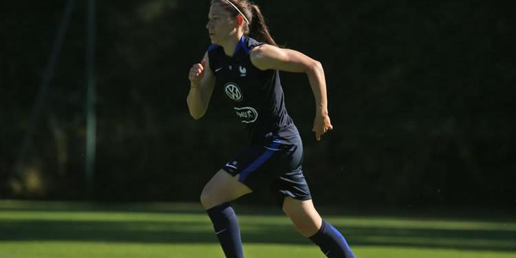 Elise Bussaglia, Barcelone. ex-joueuse du Vfl Wolfsburg. Equipe de France. JO de Rio. Crédit fff.fr. Lesfeminines.fr