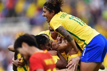 Bresil s'impose de manière impérial face à la Chine (3-0). Crédit FIFA. Lesfeminines.fr