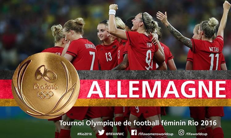 Allemagne gagne son premier titre Olympique et prend la place des USA.