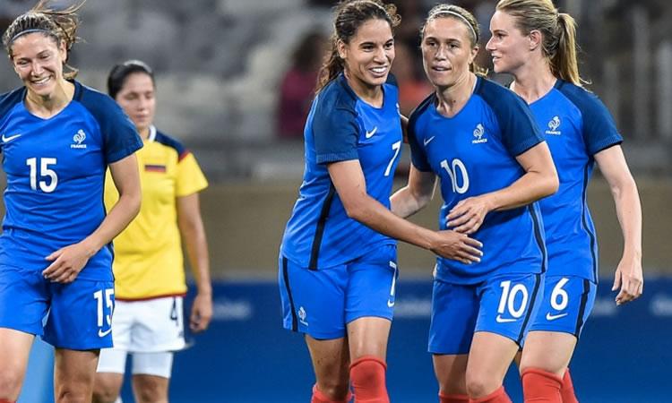 JO Rio 2016 – France (4-0) Colombie. – Baston de Regards qui s'est terminée par un 4-0 pour la France.