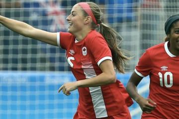 Janine Beckie met le but le plus rapide des JO. Crédit FIFA. Lesfeminines.fr