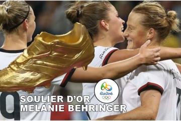 Mélanie Behringer. Soulier d'Or Rio 2016. Allemagne