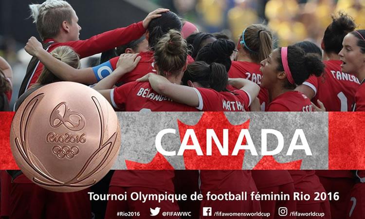 Le Canada reprend sa médaille de bronze et fait le doublé 2012-2016. Crédit lesfeminines.fr