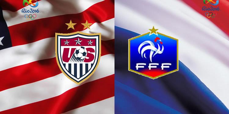 France-USA. 2è tour des JO. Groupe G. Crédit. lesfeminines.fr