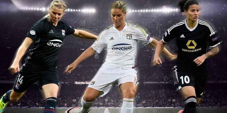 Meilleure joueuse UEFA 2016 - Amandine Henry, Ada Hegerberg, Dzenifer Marozsan. Crédit UEFA. Lesfeminines.fr