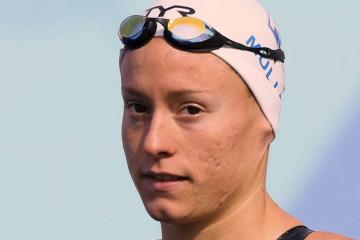 Aurélie Muller aurait dû avoir la médaille d'Argent car elle s'est challengée comme jamais avec Rachel Bruni. Crédit lesfeminines.fr.