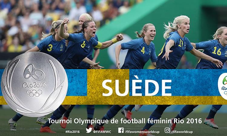 Belle médaille pour la suède. La première de leur histoire. Crédit FIFA. Lesfeminines.fr