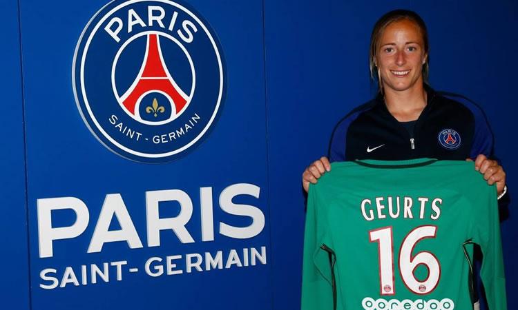 Loes Geurts signe deux ans au Paris Saint Germain. Crédit psg.fr. Lesfeminines.fr