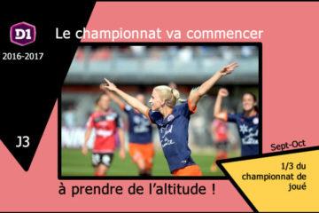 Championnat D1F-Le Championnat va commencer à prendre de l'altitude. Credit. Lesfeminines.fr