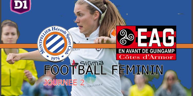 Montpellier Hsc - Guingamp EA. Crédit lesfeminines.fr
