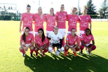 Equipe de Montpellier contre ASSE. 8 octobre 2016. 4è journée de D1. crédit Mhsc. lesfeminines.fr