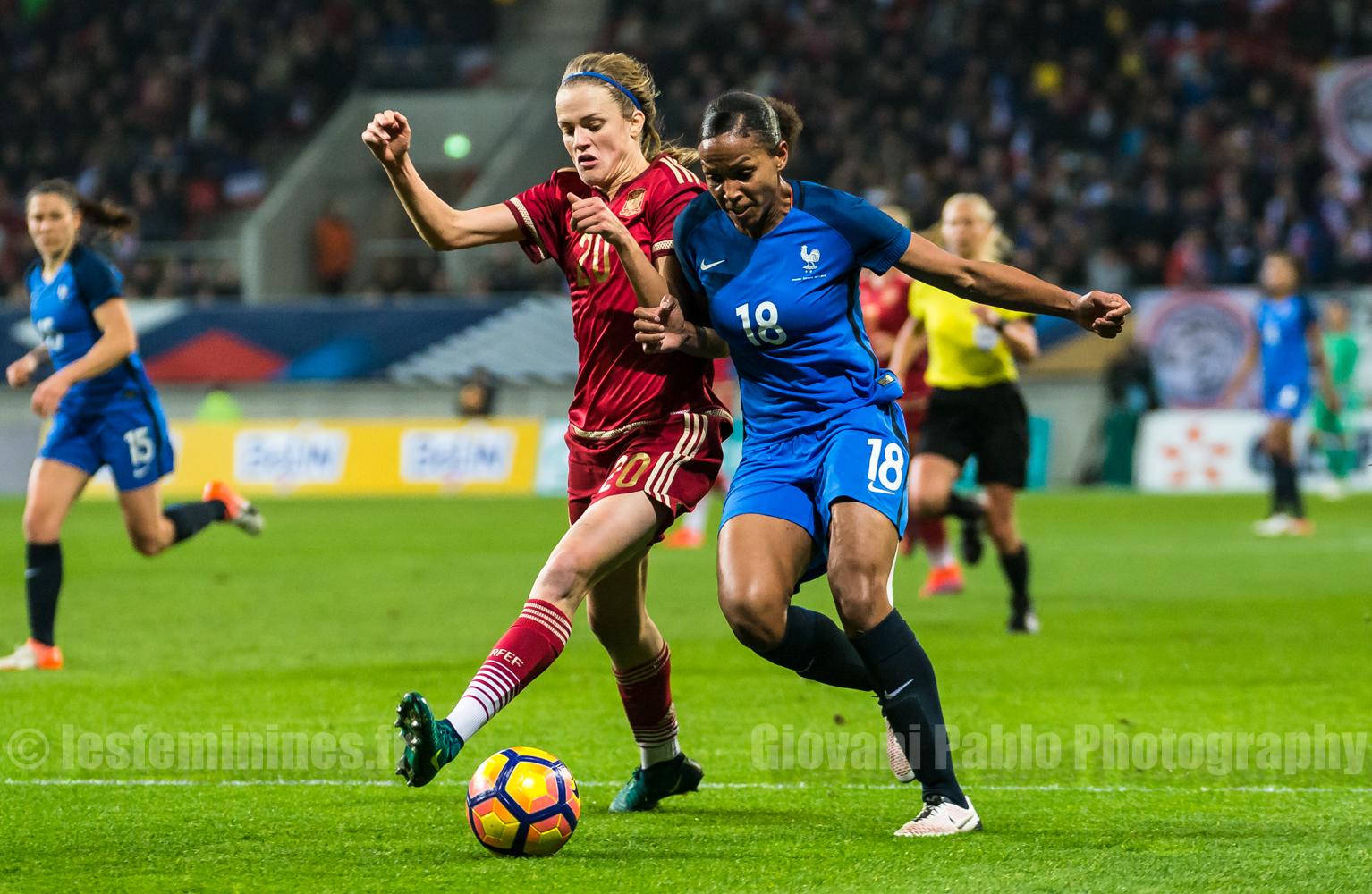 France – Espagne : 1-0. Les françaises maîtrisent le taureau espagnol