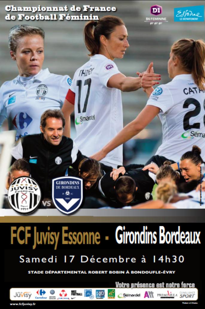 FCF JUVISY- FC GIRONDINS  DE BORDEAUX : 0-0. La Juv'91 n'a pas trouvé la faille bordelaise.