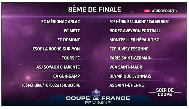 CDF – L'esprit Coupe se joue dans le 95 avec Domont (DH) qui reçoit Montpellier (D1F).