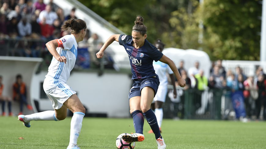 Vero Boquete face à Caroline Pizzale. Une nouvelle PSG face à une ex-PSG. Photo France Bleue.