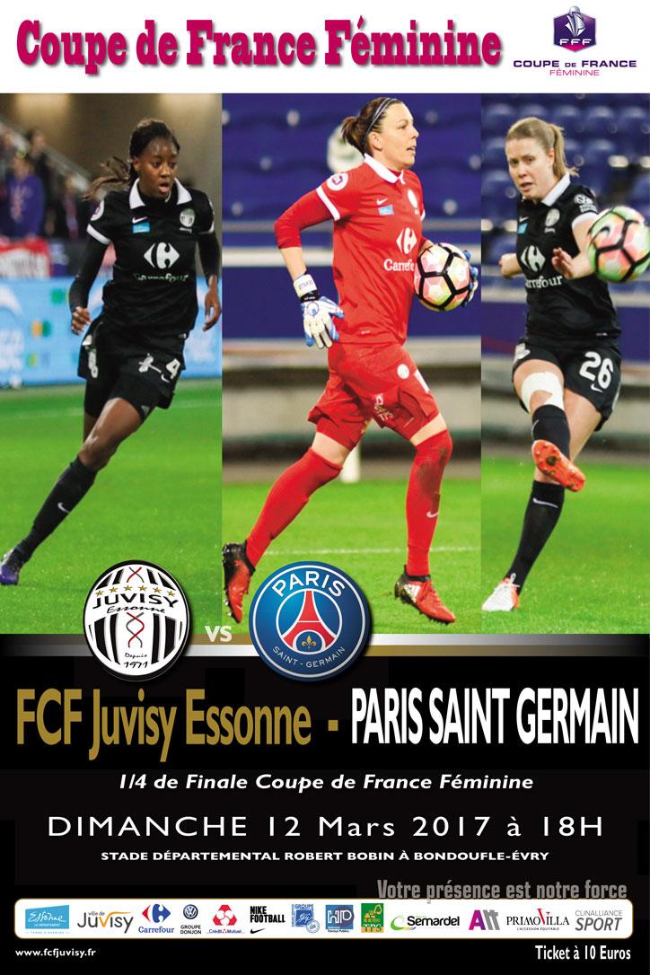 Coupe de France: FCF Juvisy – Paris SG (1-1). Le superbe but égalisateur d'Estelle Cascarino a failli lancer Juvisy en demi-finale
