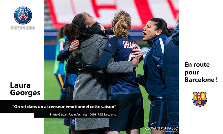 Laura Georges, Paris Saint Germain. Archives. Photo Giovani Pablo. PSG-Barcelone. Lesfeminines.fr