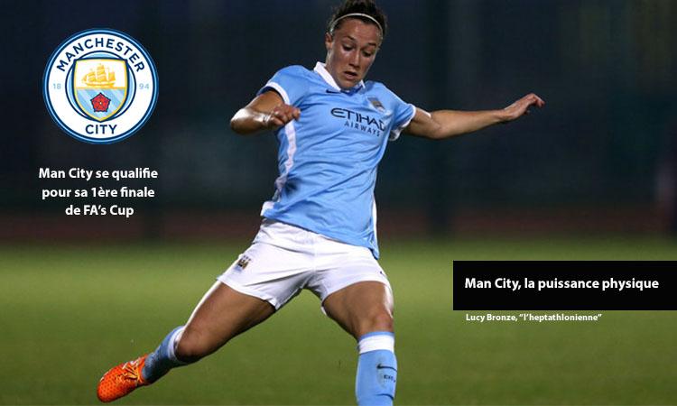 1/2 finale FA Cup. Manchester City Women est une équipe de caractère au jeu puissant.